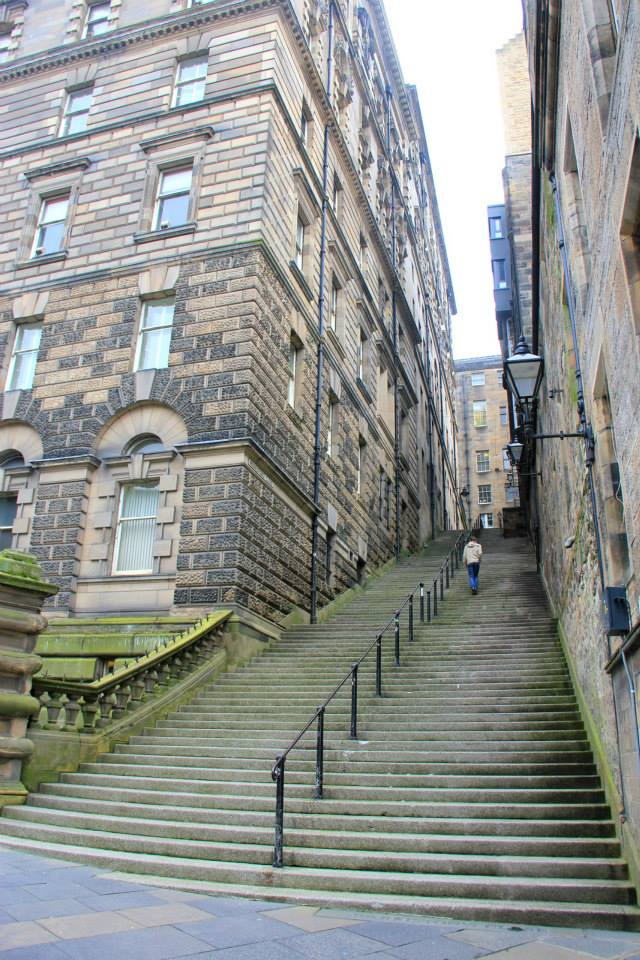 The stairways in Edinburgh