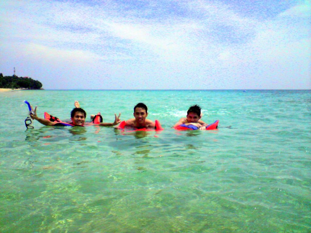 Swimming at Tioman Island, Malaysia