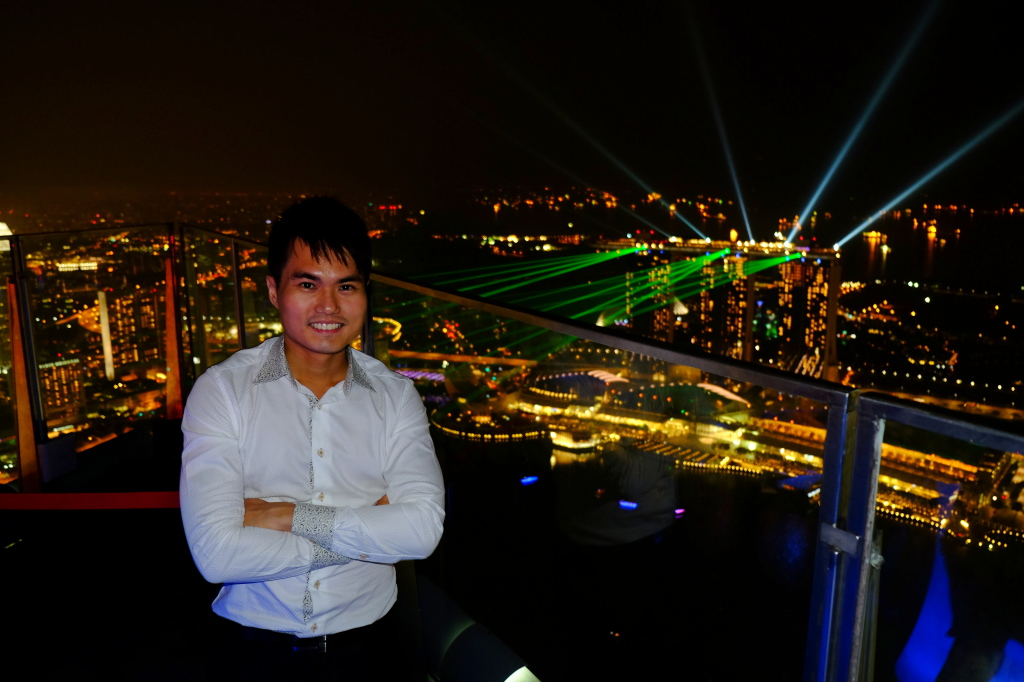 At the top of Singapore