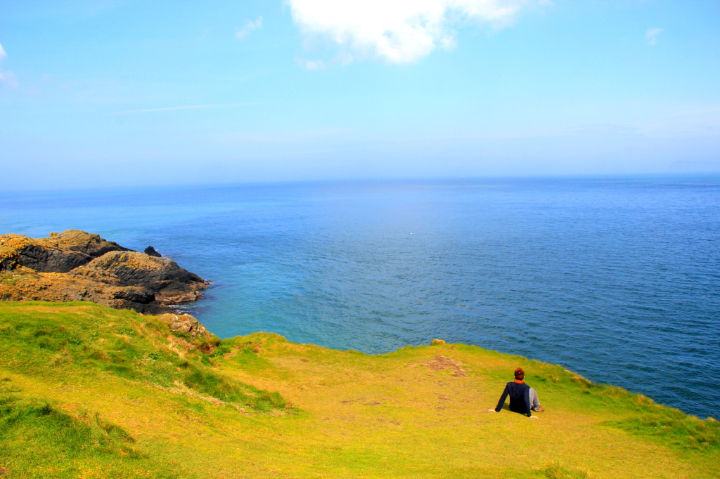 Chilling out at Carrick-a-Rede, Antrim, Northern Ireland