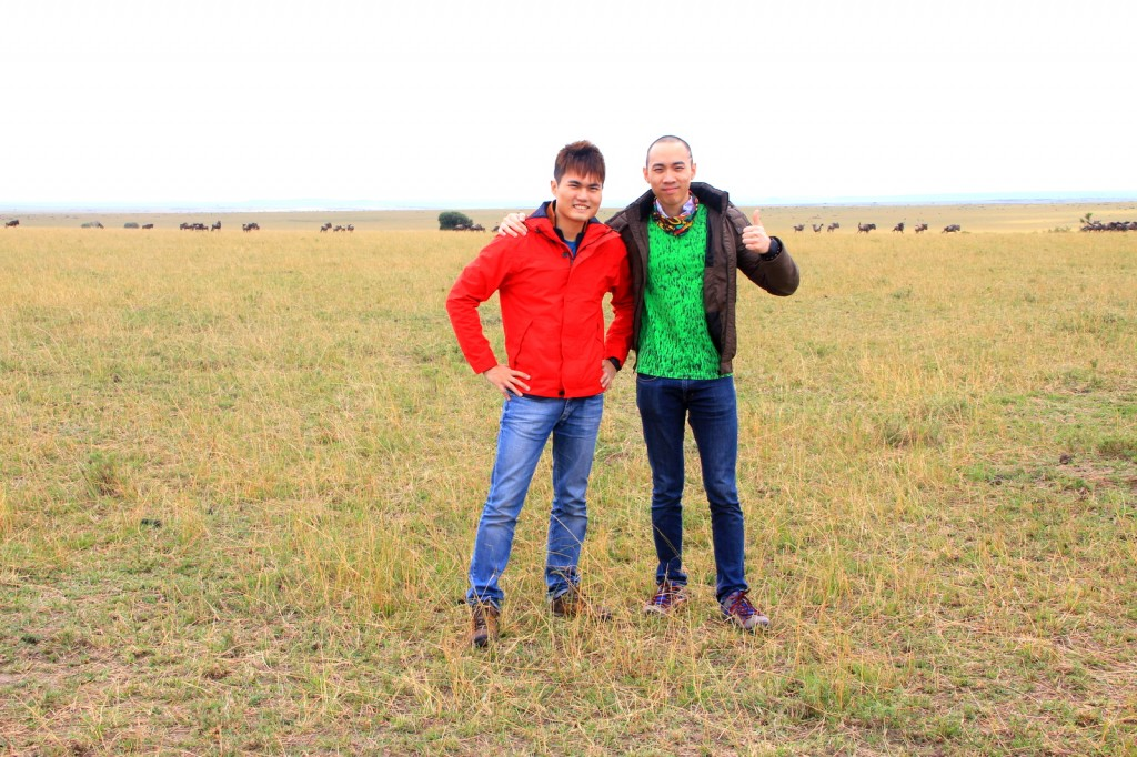With Brother Ryan (Singapore) in Maasai Mara National Park, Kenya