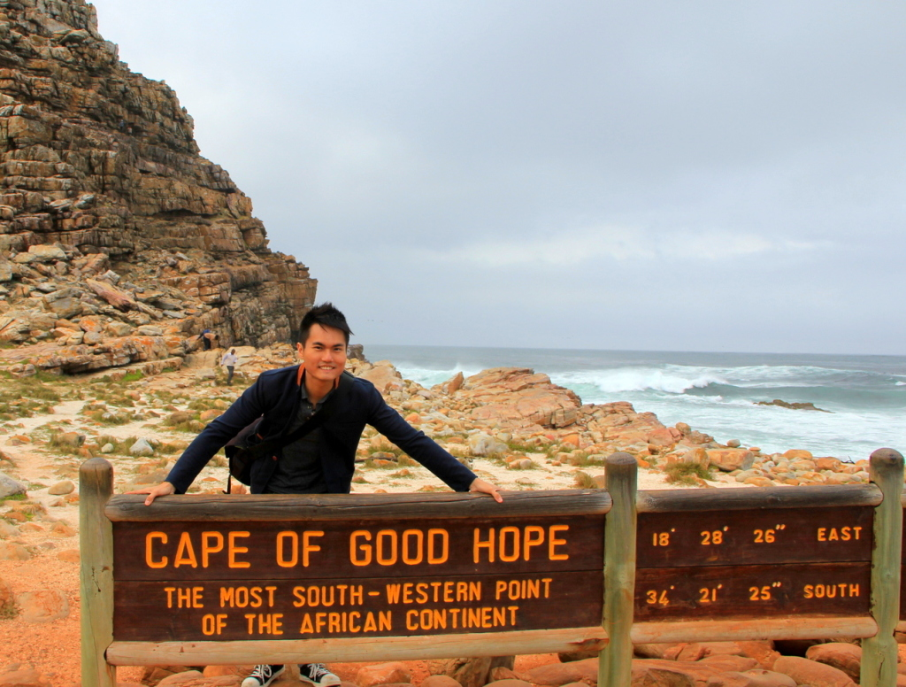 Experiencing 2 oceans breeze at Cape of Good Hope, South Africa