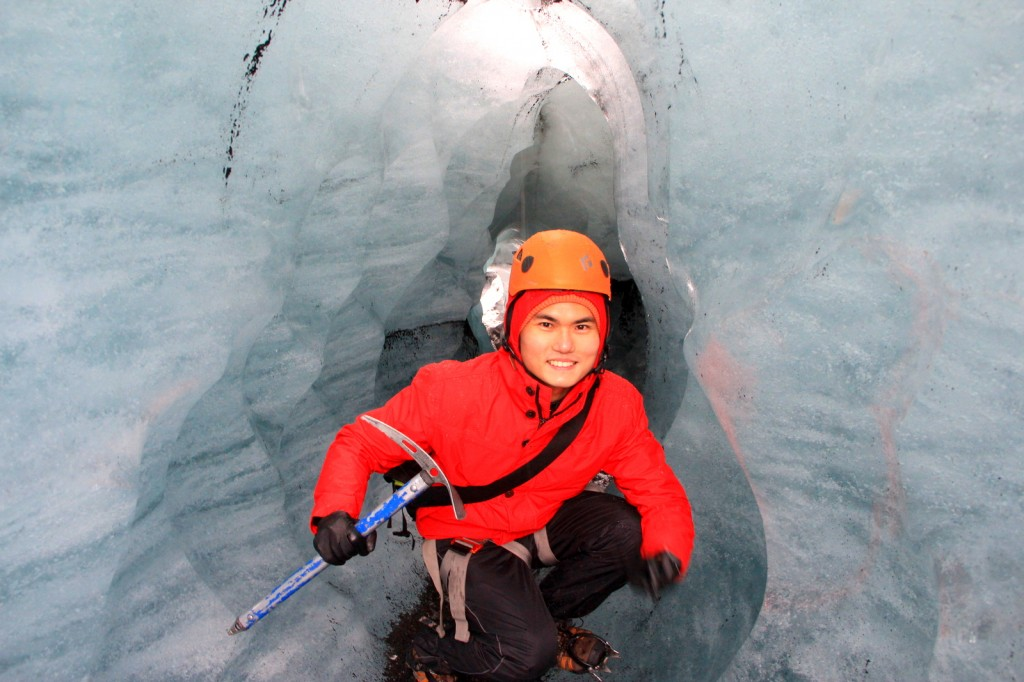 Climb Walking in the Ice Cave