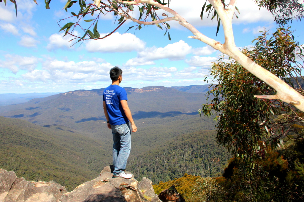 Believing in myself at Blue Mountain, Australia