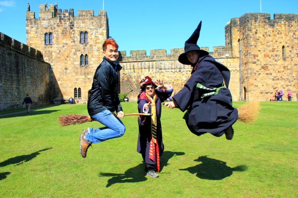 Learning magic at Hogwart (Alnwick Castle), England