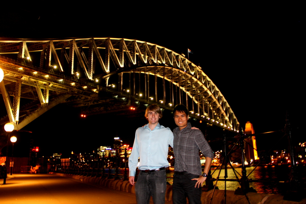 Catching up with buddy at Sydney, Australia