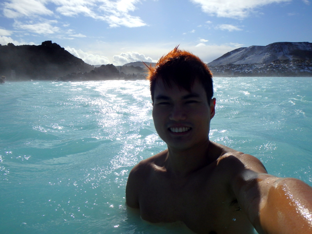 Embracing the cold and enjoying the warm at Blue Lagoon, Iceland