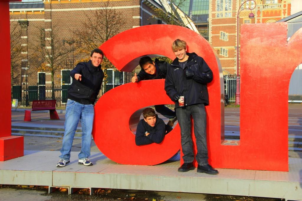 Boys will always be boys in Amsterdam, Netherlands
