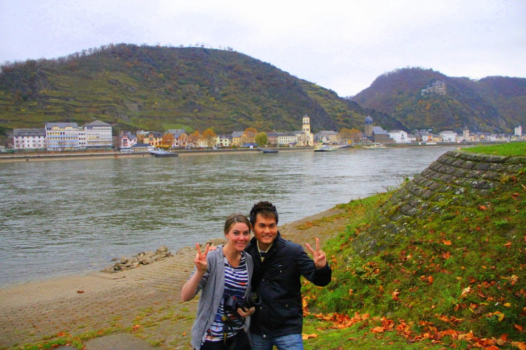 River cruising at St Goar, Germany