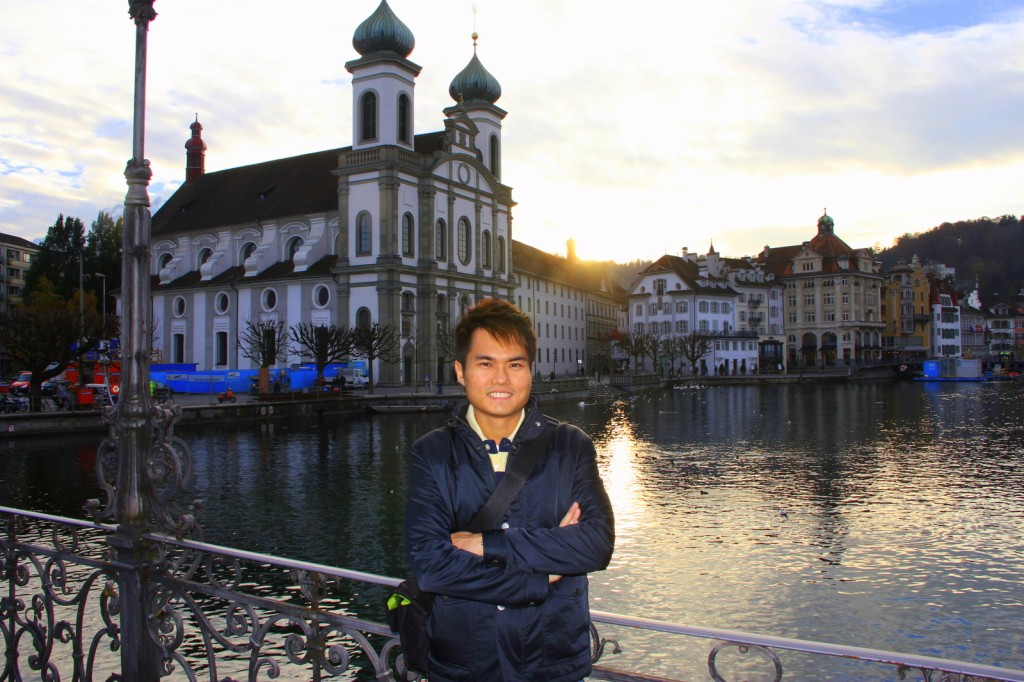 At the romantic city of Lucerne, Switzerland