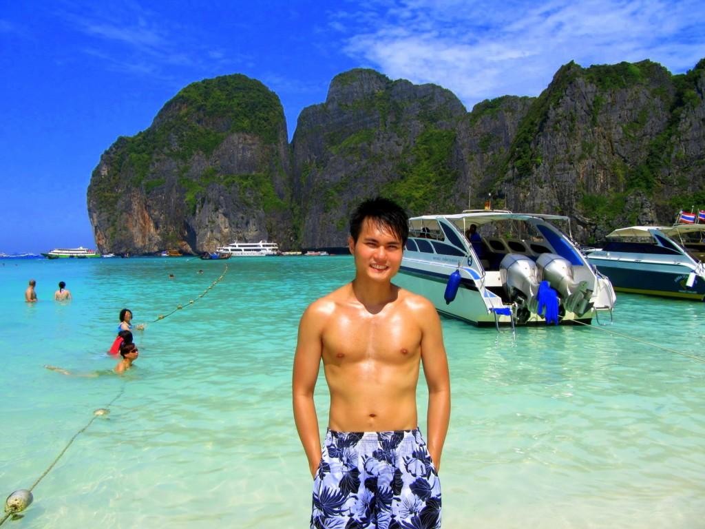 Beautiful beach of Maya Bay, Thailand
