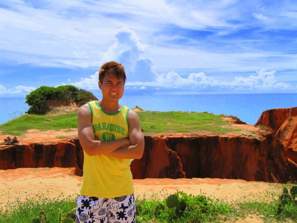 Suntanning at Morro Branco, Brazil