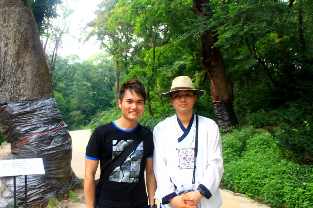 With my student local guide in Changdeokgung Palace, in South Korea