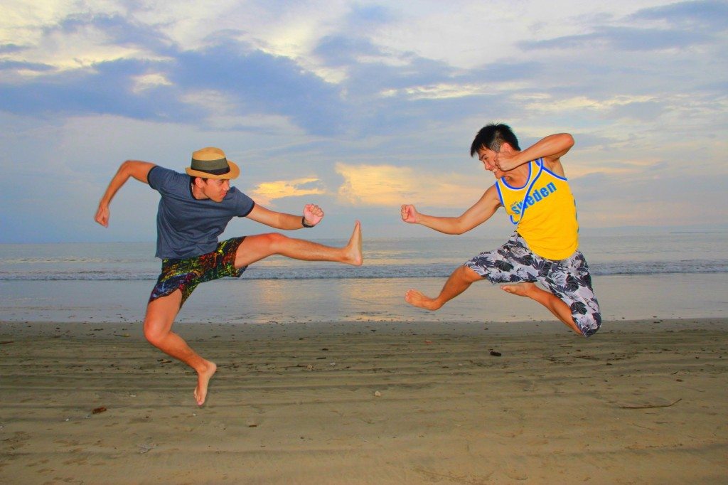 Kungfu Fighting at Balinese Beach! :-)