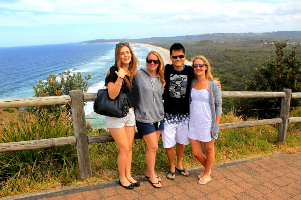 Chilling out at Byron Bay, Australia