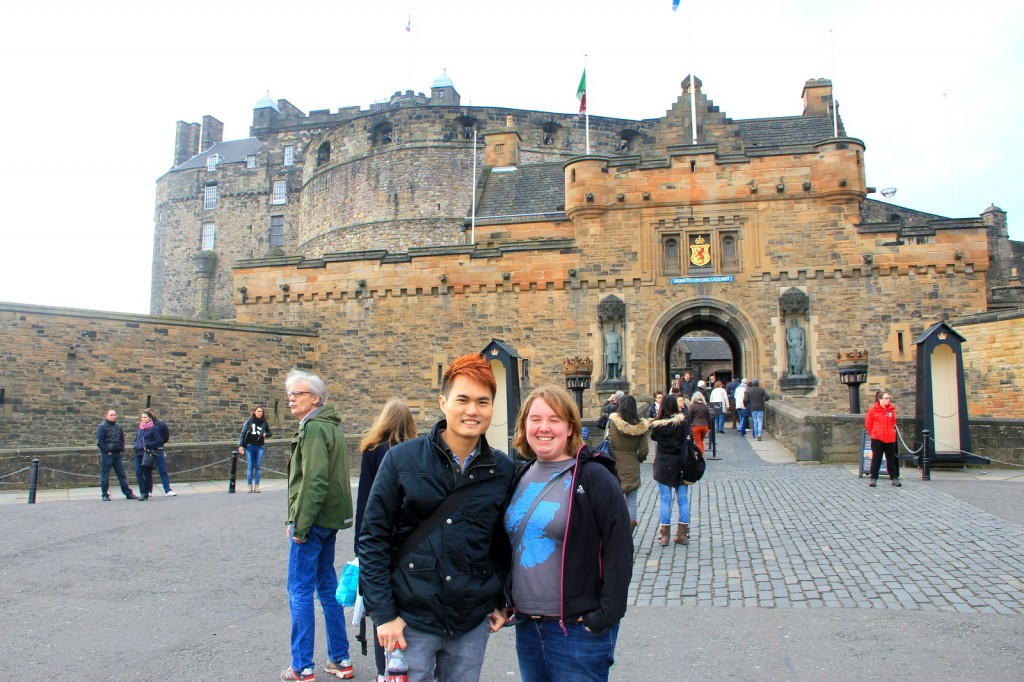 Edinburgh Castle with my buddy Sus Wallis