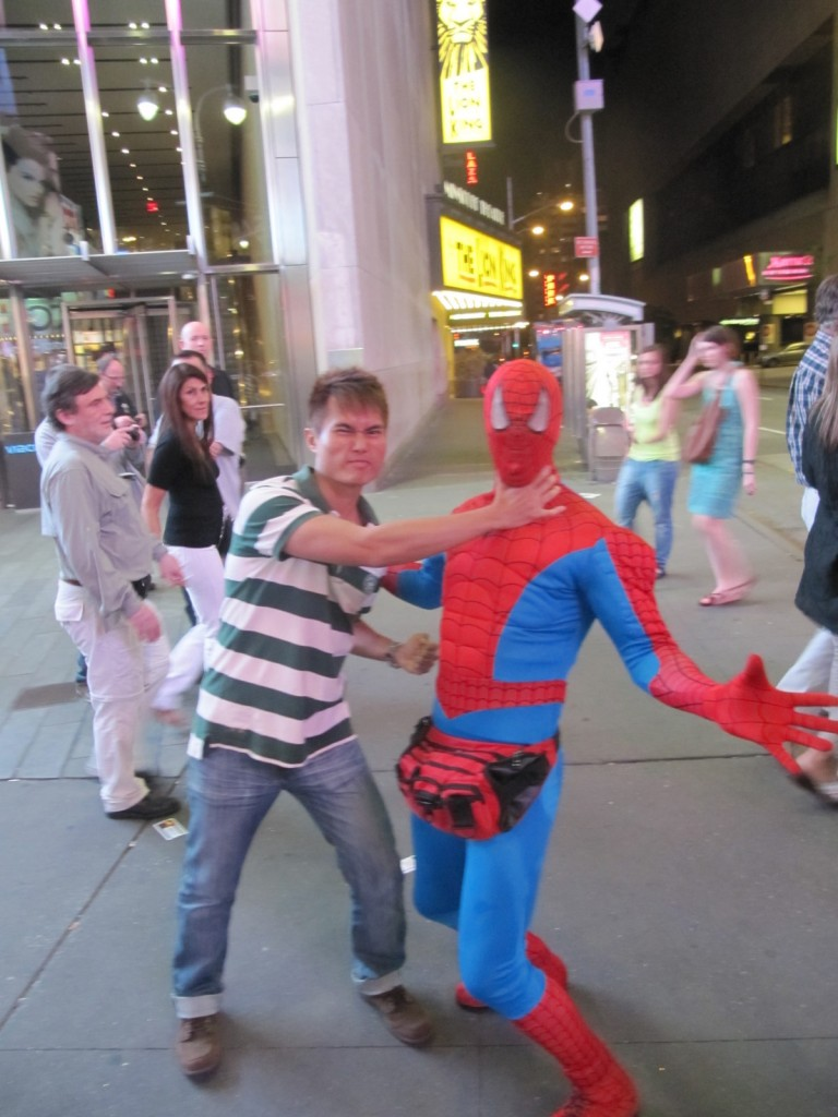 Taking down Spiderman in New York City, USA