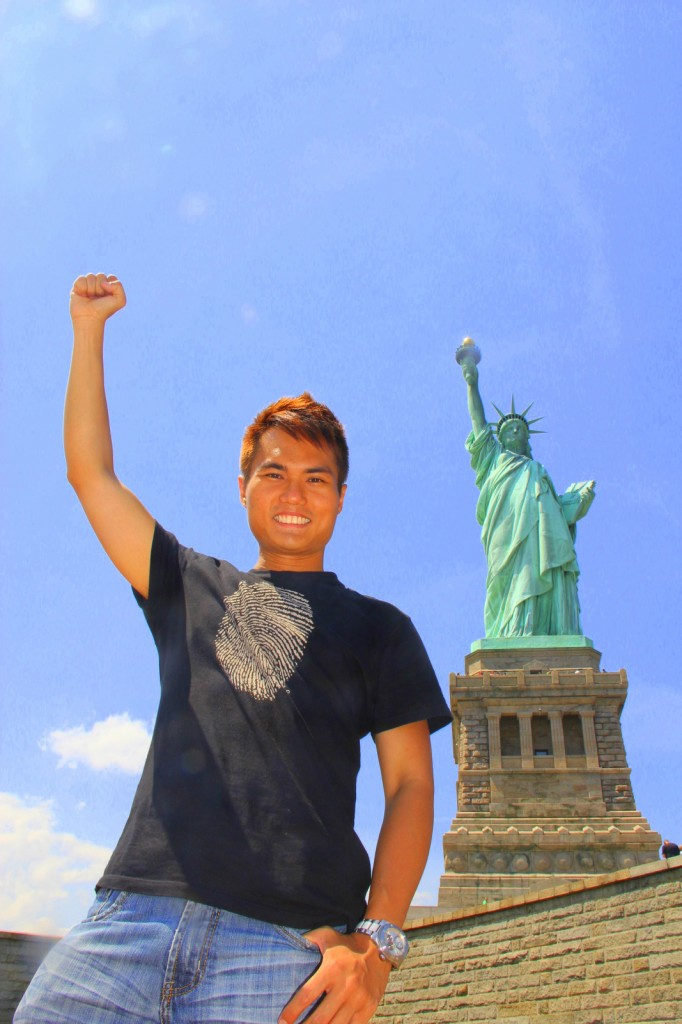 Standing firm for liberty at Liberty Island, USA