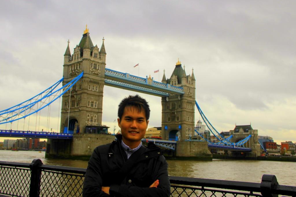 This is Tower Bridge not London Bridge at London, England