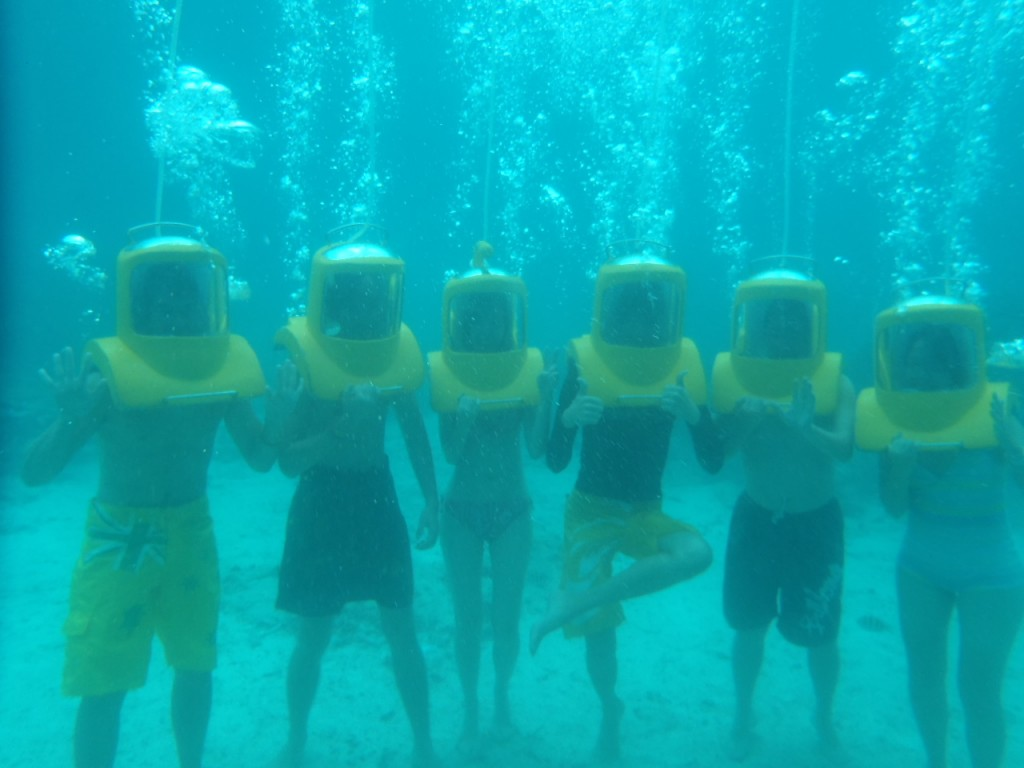 Helmet diving at Boracay, Philippines