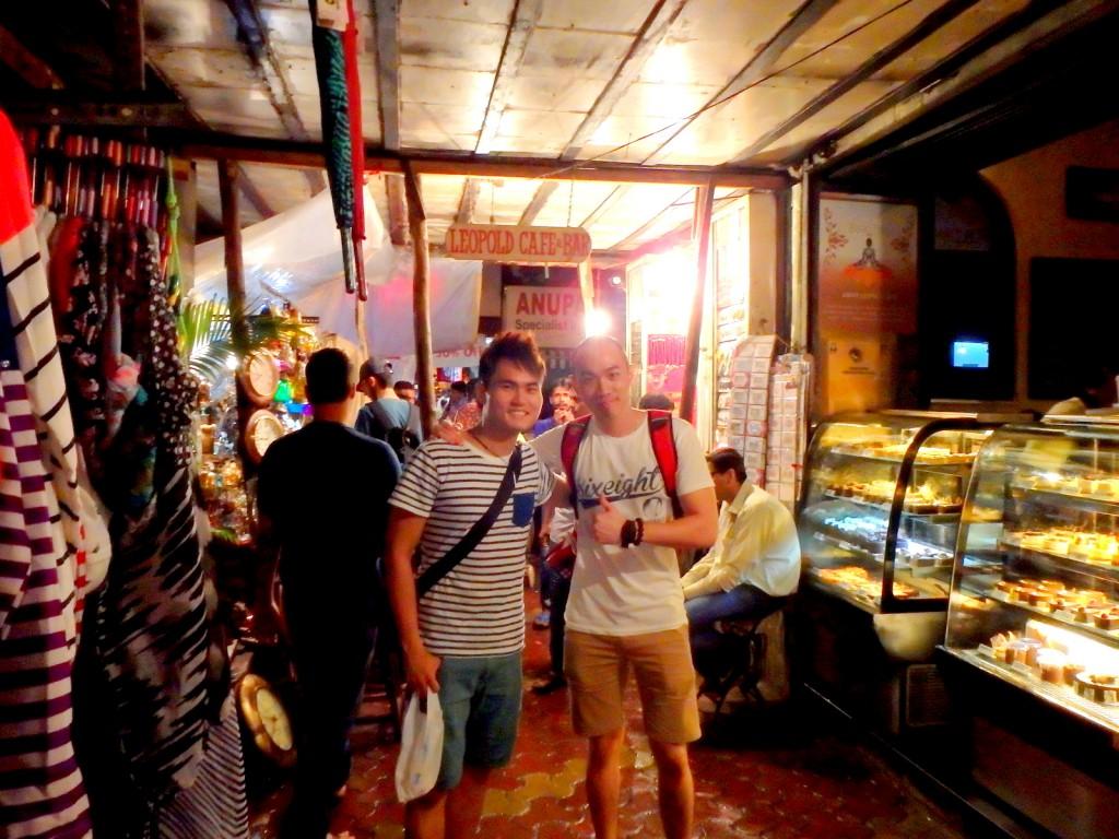 Outside Leopold Cafe