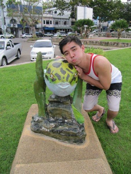 Wilson and a Thai Puff Fish