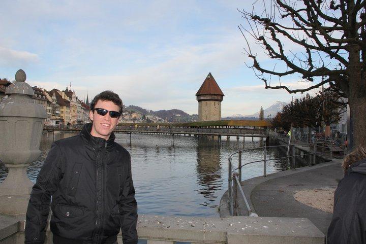 Gustavo's standard pose at Switzerland