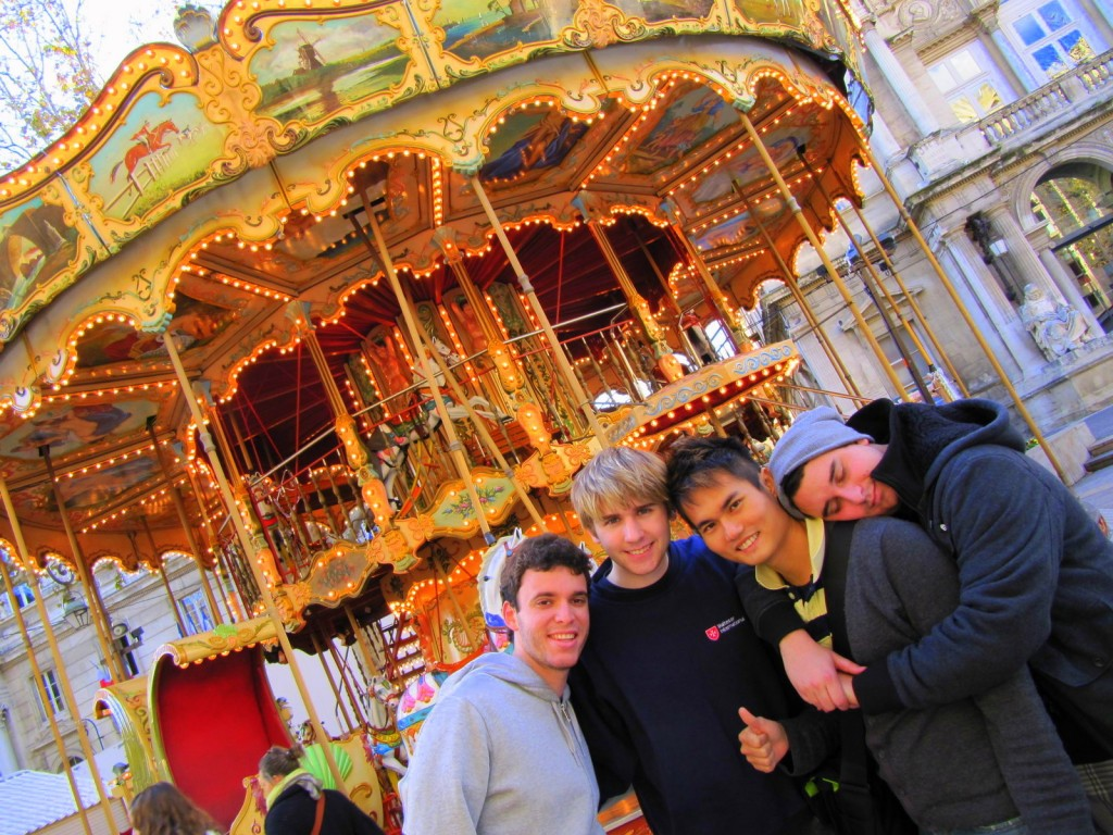 With Gustavo (Brazilian), Dalton (Aussie) and Jordan (Canadian) in France