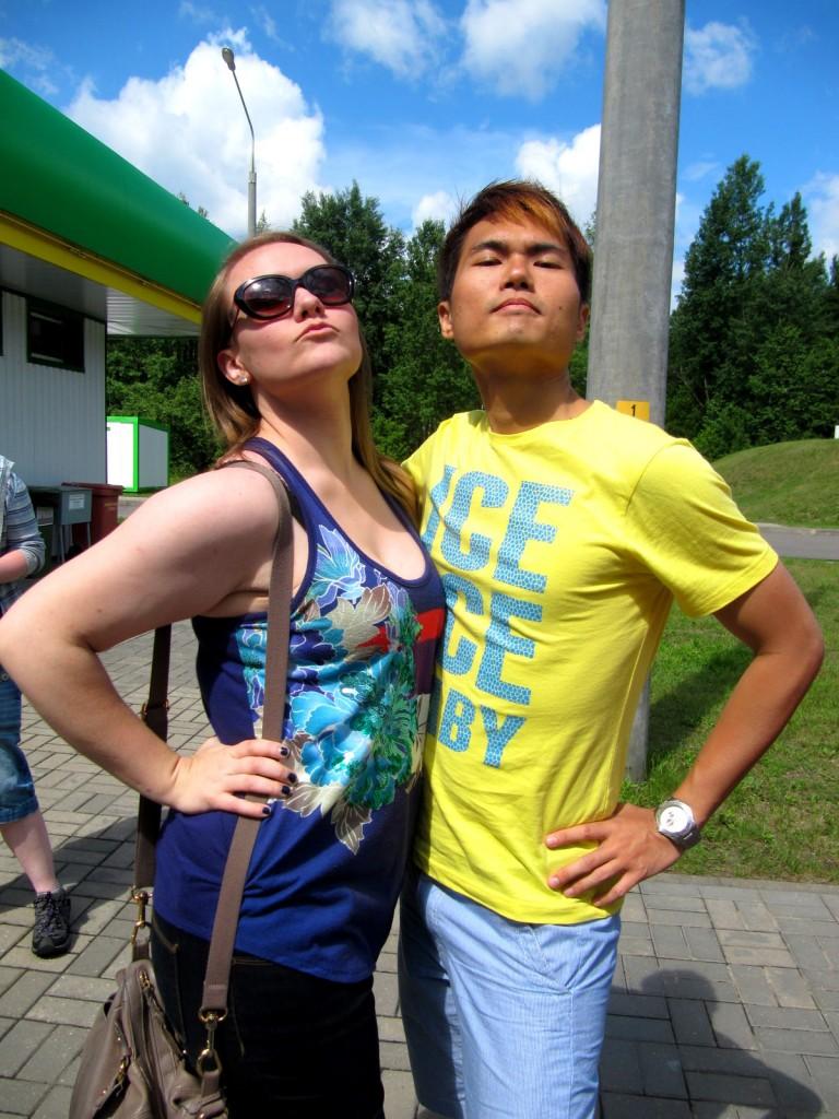 With Diva Lynn in Belarus