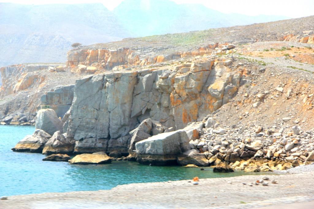 Driving to Khasab, Oman