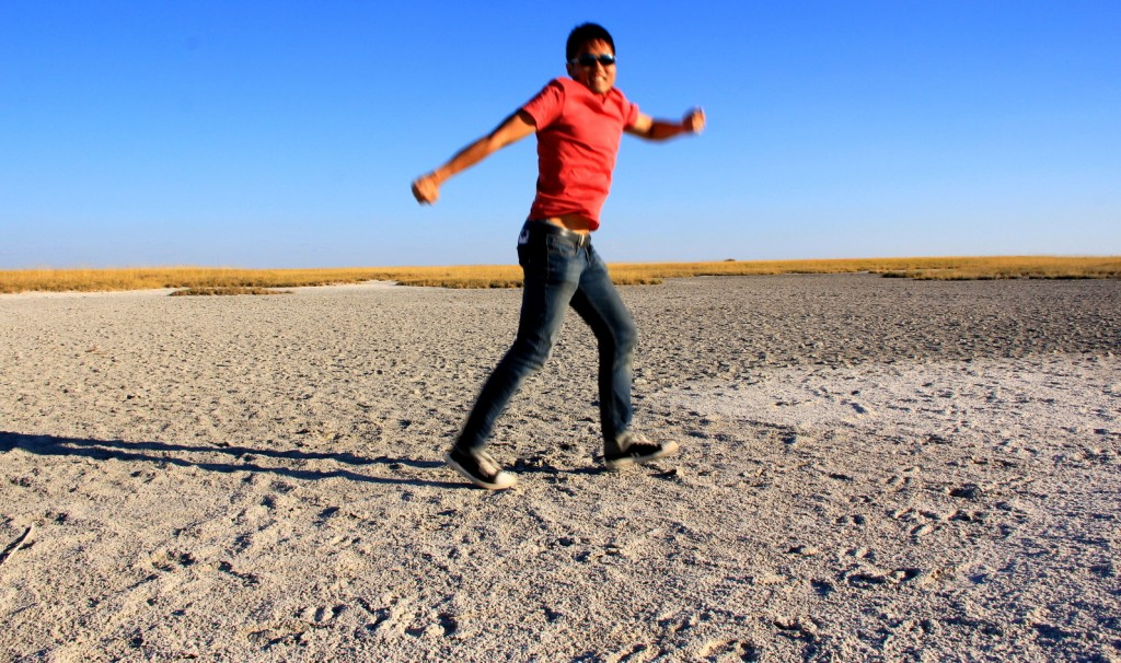 Moon Walking at Makgadikgadi Pan