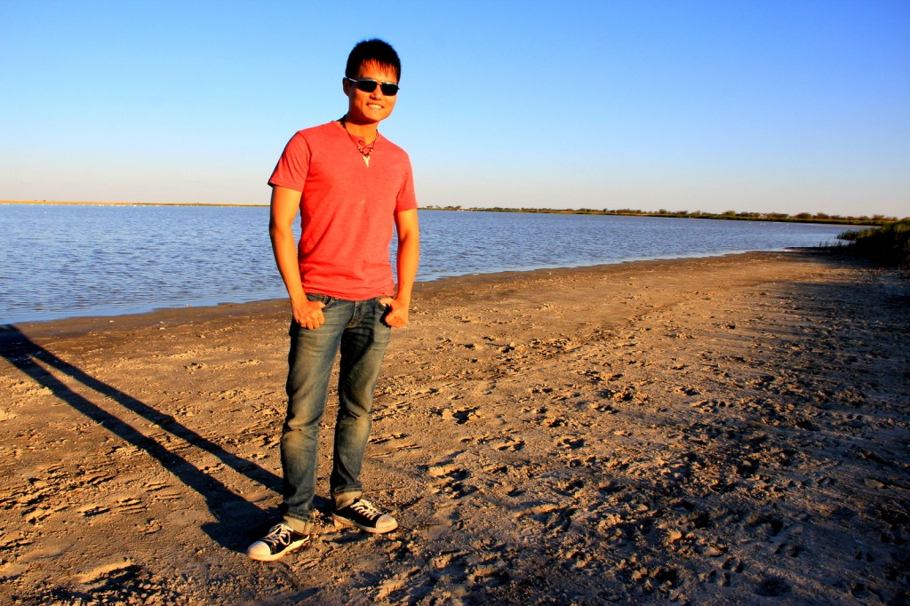 At the Makgadikgadi Pan