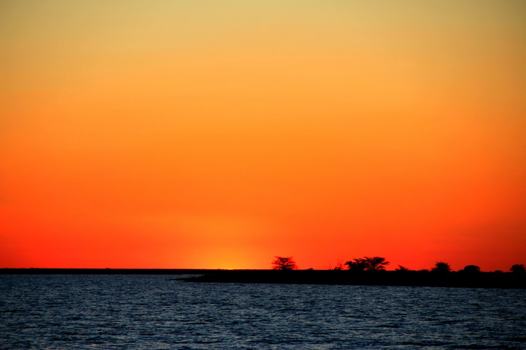 Beautiful Sunset in Botswana
