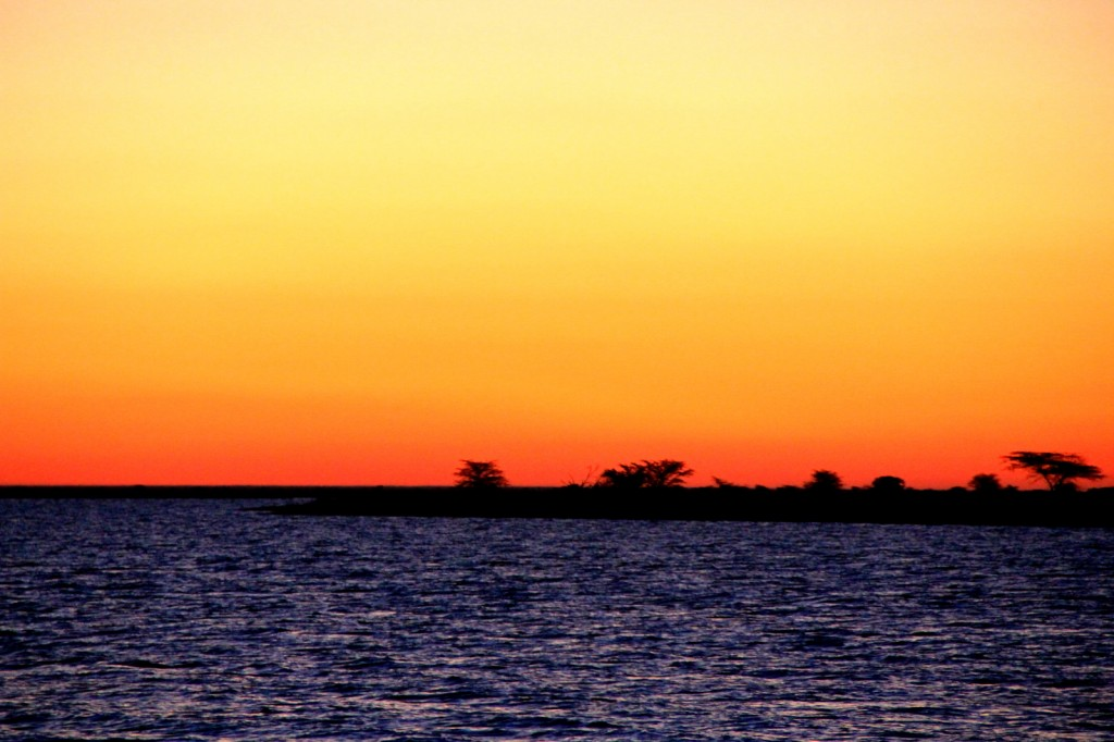 Captivating sunset in Botswana