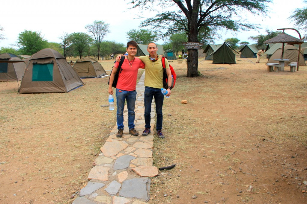 With Brother Ryan in Seregeti, Tanzania