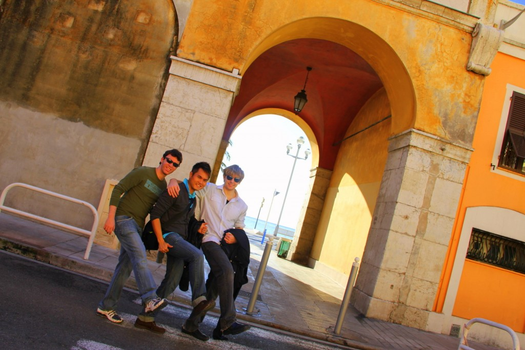 With Gustavo (Brazilian) and Dalton (Aussie) in Nice, France