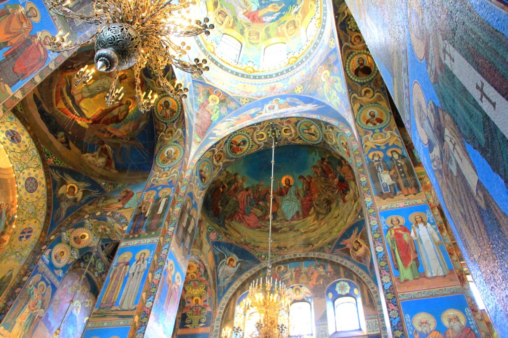 Lavishing Interior of the Church of the Saviour on Spilled Blood