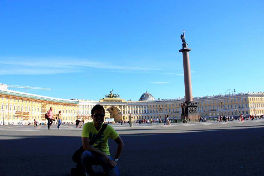 Tiny me at Palace Square
