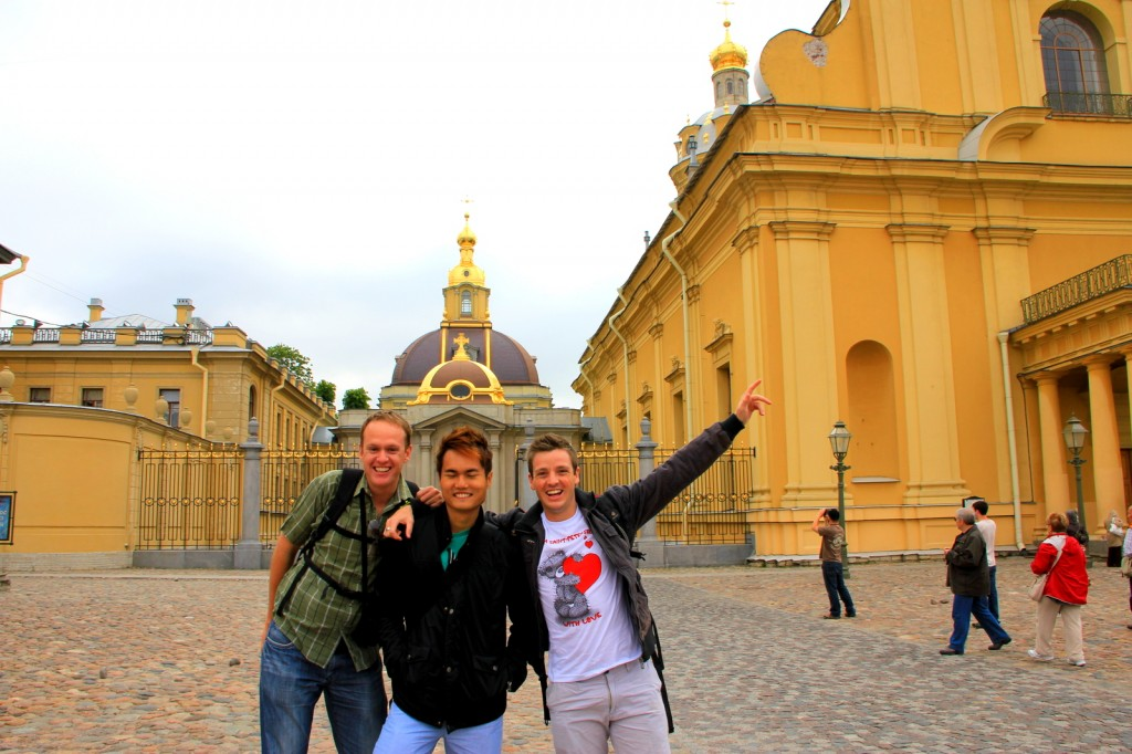 With South African Friends at Peter and Paul Cathedral