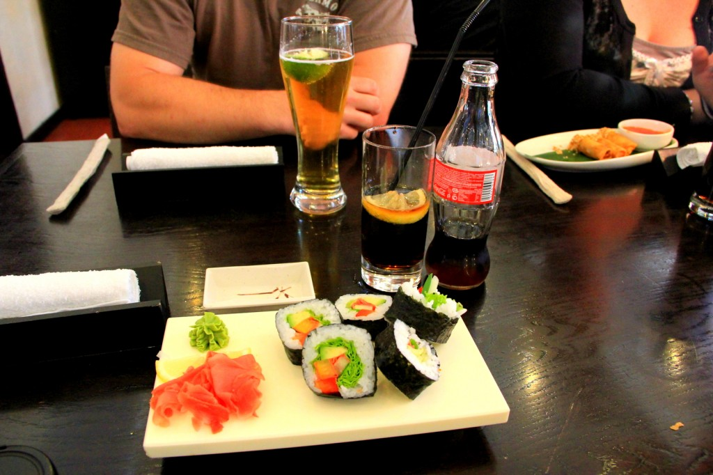 Sushi at Russian-Japanese Restaurant