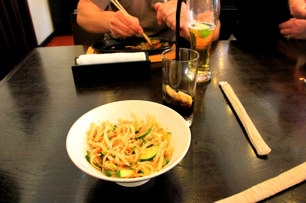 Vegetarian Udon at Russian-Japanese Restaurant