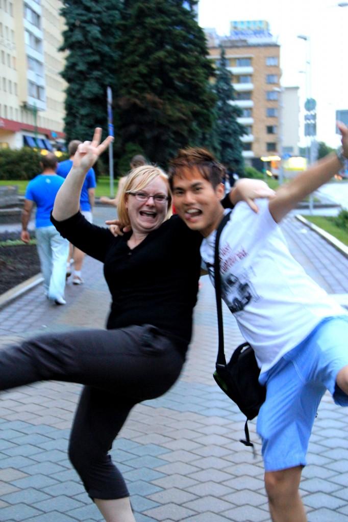 With Sarah (Aussie) in Belarus