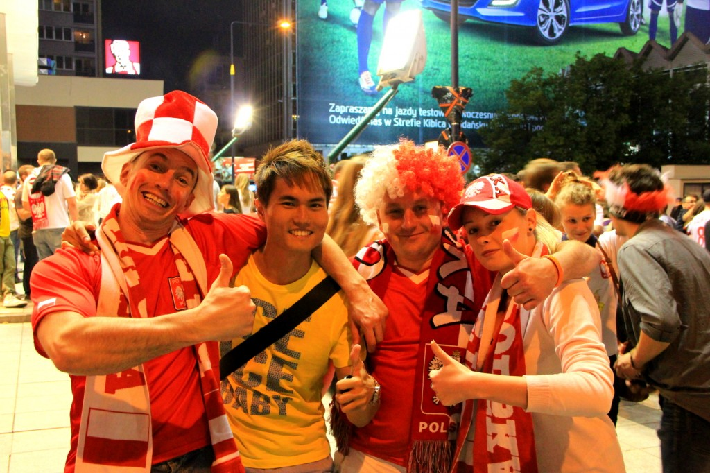 Cheering for Poland in Euro 2012