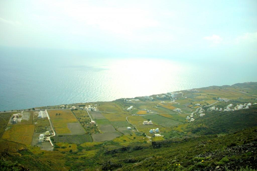 Driving around in Santorini