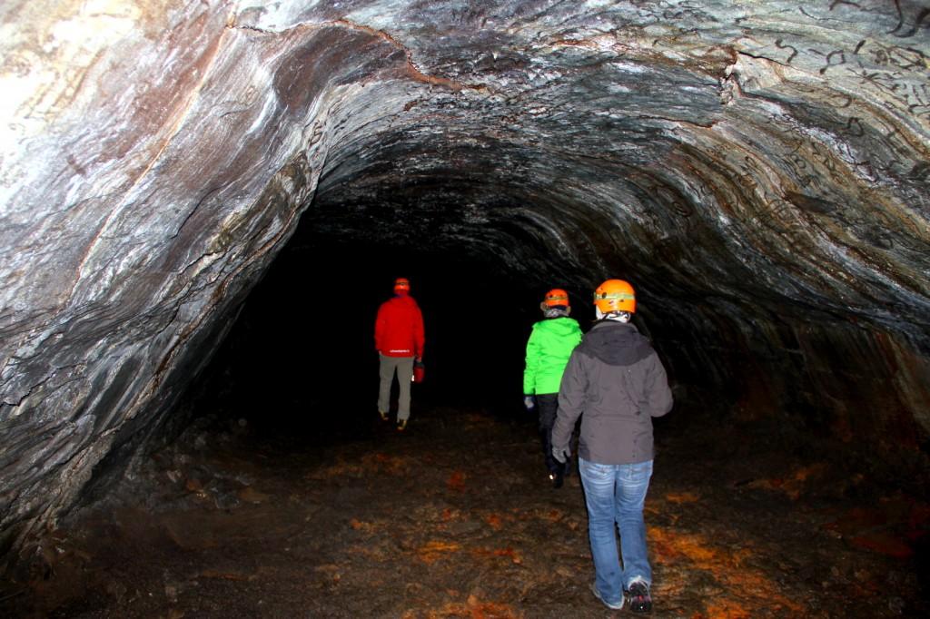 The biggest part of Leiðarendi cave