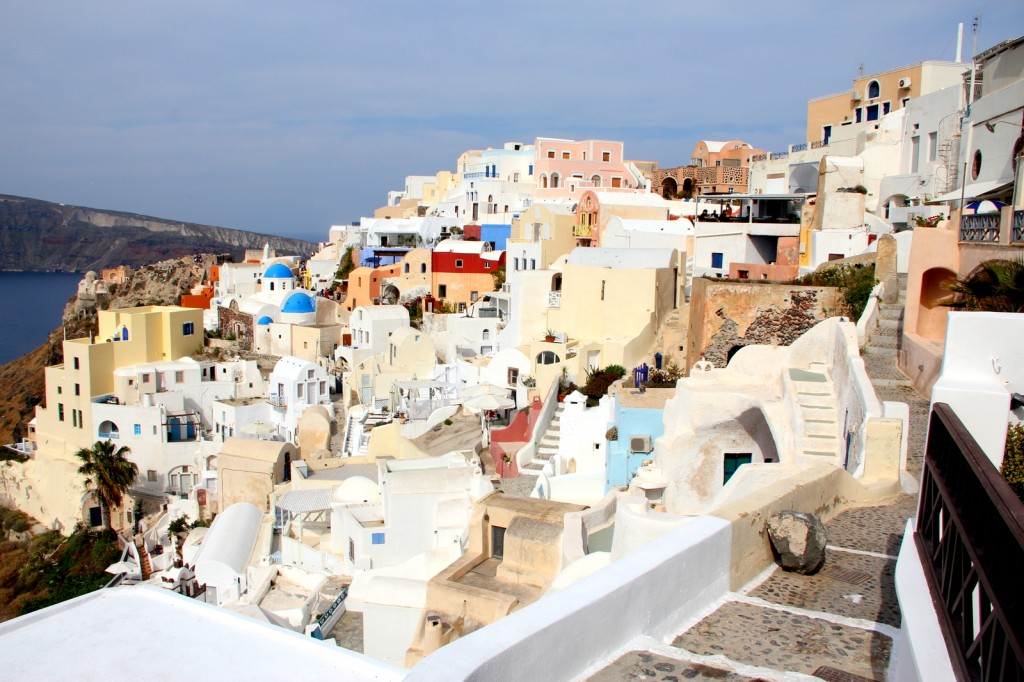 Beautiful houses in Santorini