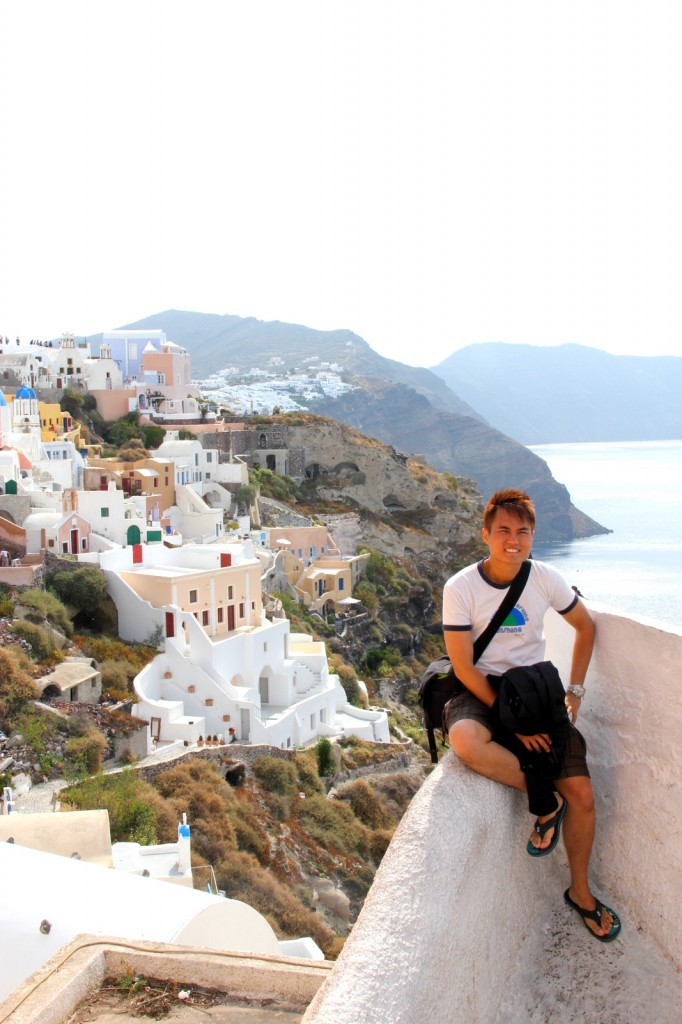 The picturesque view of Oia