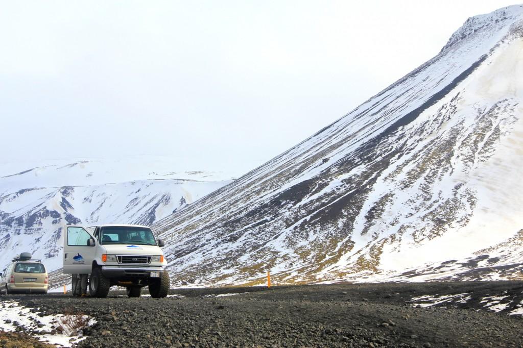 The beautiful view of Leiðarendi