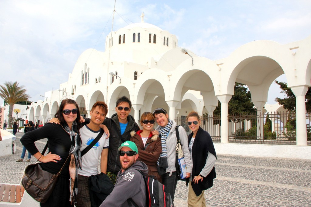 The Greek Cathedral Mitropoli in Fira