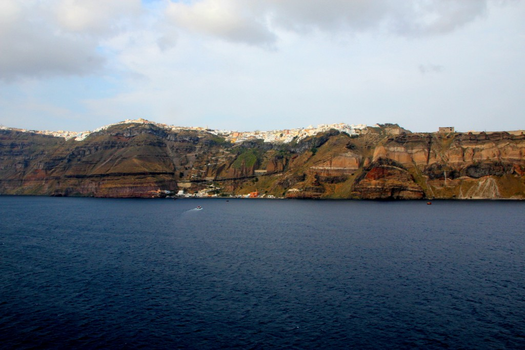 The quiet and serenity view of Fira, Santorini